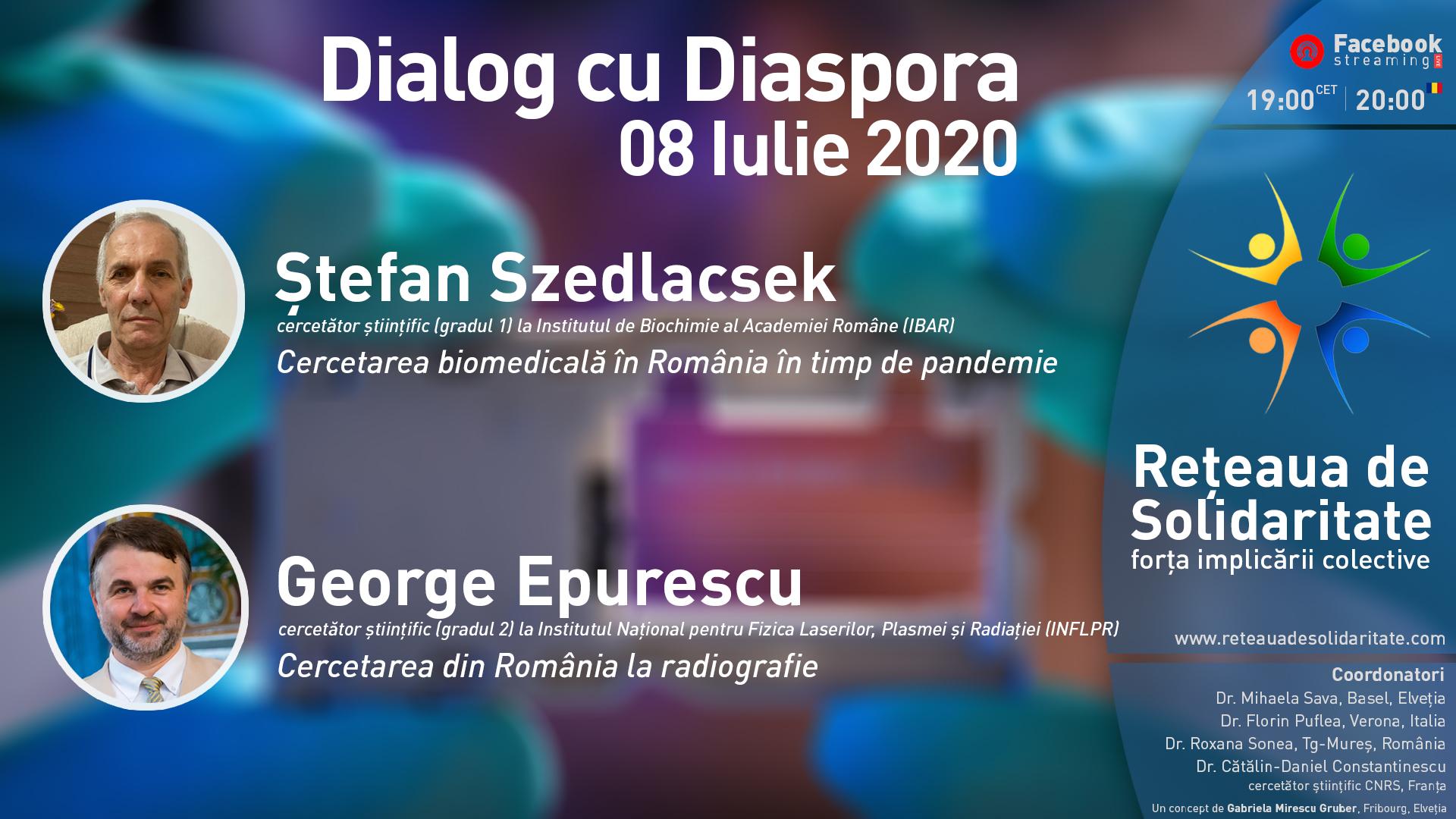 Despre cercetarea științifică din România, la Dialogul cu Diaspora de miercuri