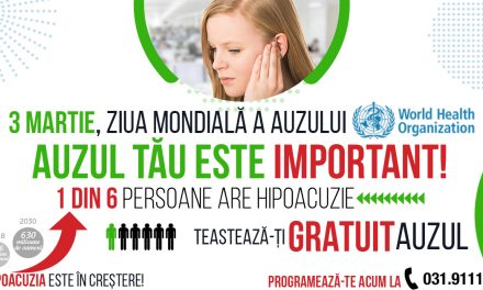 Clarfon marchează pe 3 martie Ziua Mondială a Auzului prin testarea gratuită a auzului in toate cabinetele din România