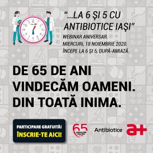 """""""Hipertensiunea arterială"""": tema webinarului aniversar Antibiotice 65 de ani din 18 noiembrie"""