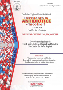"Conferința regională ""Rezistența la antibiotice – încotro?"": 11-12 mai, Constanța"