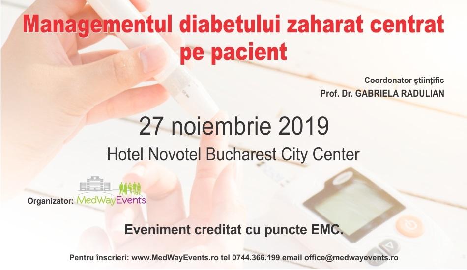 """A fost stabilit programul complet al Conferinței """"Managementul diabetului zaharat centrat pe pacient"""", de pe 27 noiembrie"""