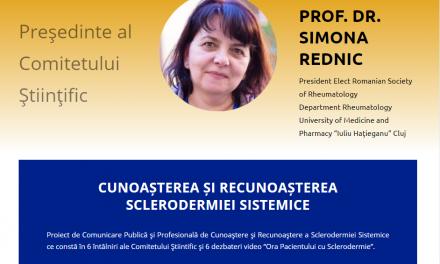 """Comunitatea BolileRare.ro: La webinarul """"Ora Pacientului"""" de pe 24 martie s-a discutat despre """"Cunoaşterea şi Recunoaşterea Sclerodermiei Sistemice"""""""