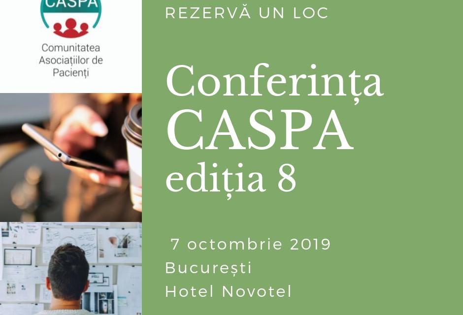 Ultimele zile de înscriere la Conferința Comunității Asociațiilor de Pacienți – CASPA ediția 8