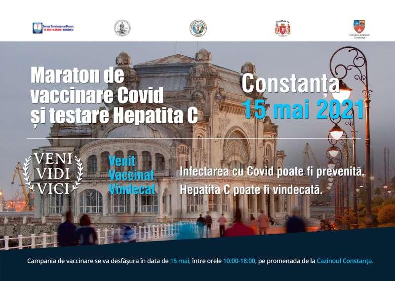 O campanie ce include un maraton de vaccinare anti-COVID şi de testare pentru virusul hepatitei C – sâmbătă, pe promenada Cazinoului Constanţa