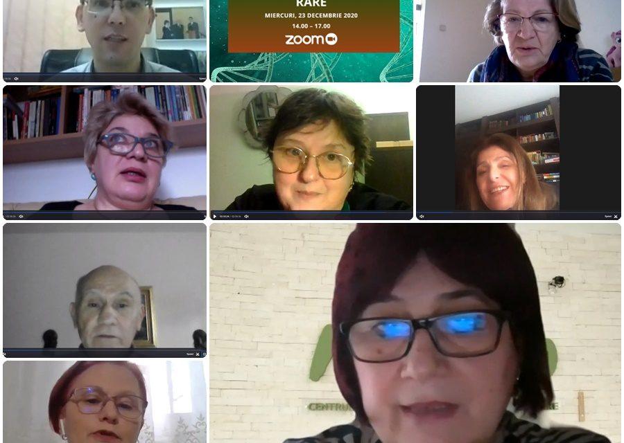 """Platforma BolileRare.ro a organizat prima dezbatere video cu tema """"Cunoașterea și recunoașterea bolilor rare"""""""