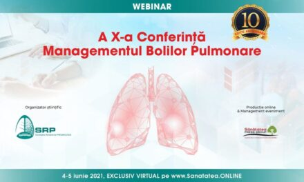 """Conferința """"Managementul Bolilor Pulmonare"""" se va desfășura în perioada 4-5 iunie 2021- online"""