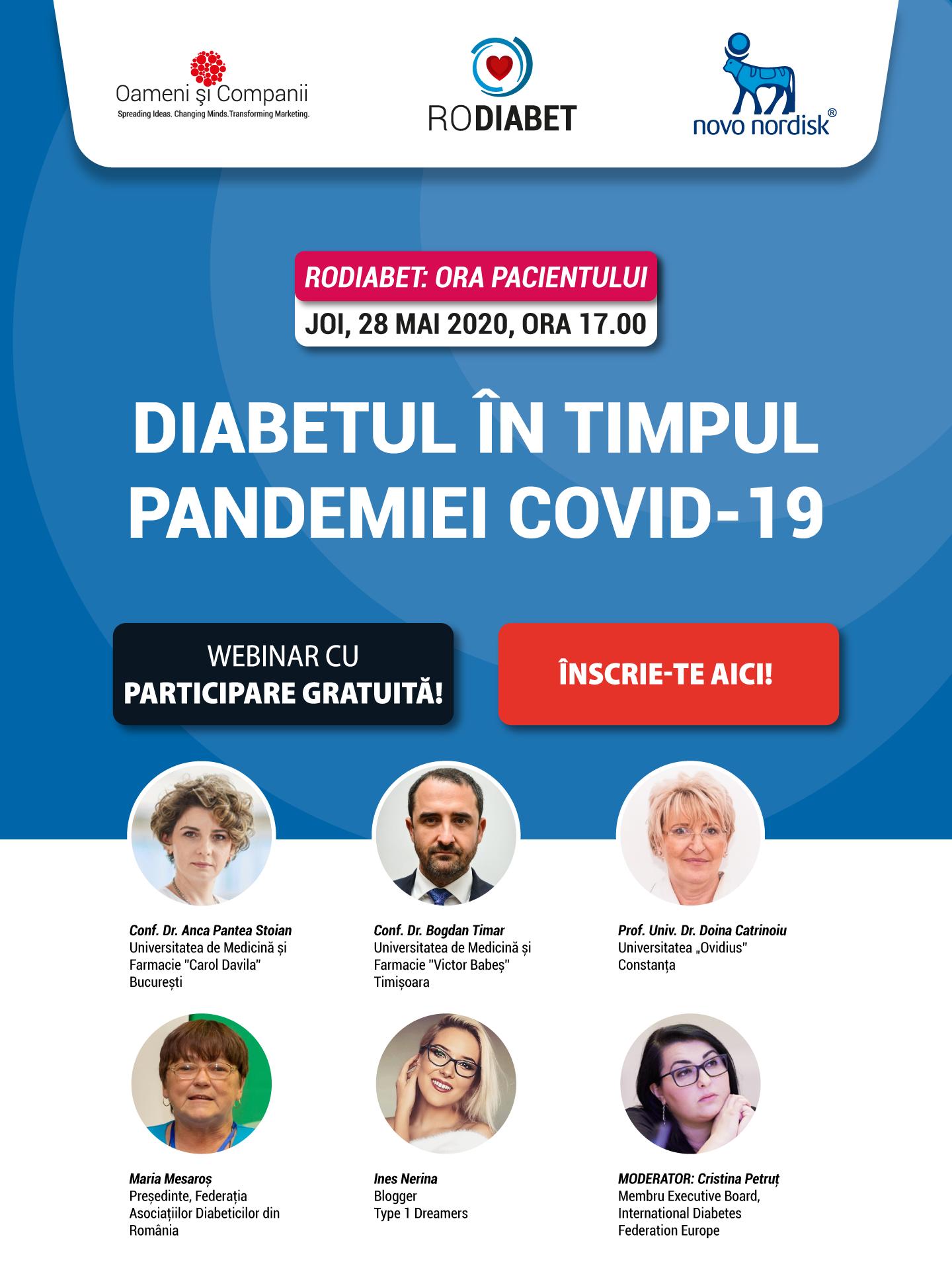 Webinar RoDiabet: Ora Pacientului, joi 28 mai 2020