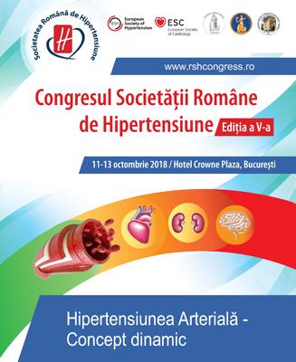 Congresul National al Societatii Romane de Hipertensiune: 11- 13 octombrie, Bucuresti