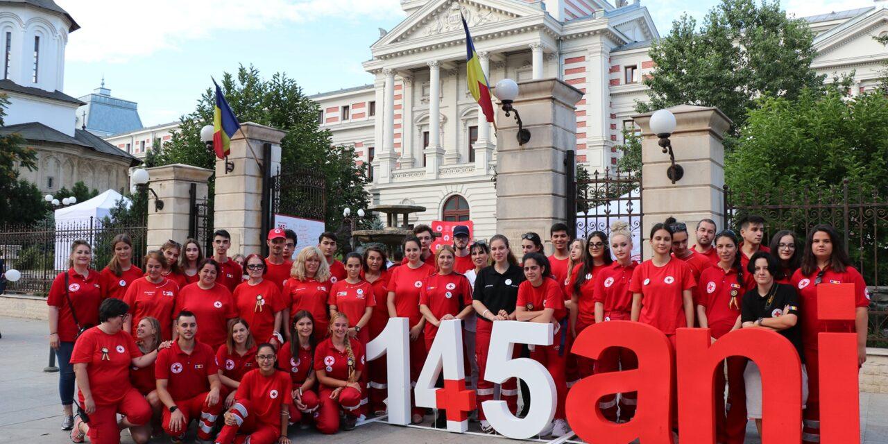 145 de ani de activitate umanitară au fost aniversați de Crucea Roșie Română alături de voluntari și mii de susținători
