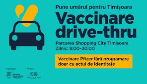 S-a deschis primul centru de vaccinare drive through din Timişoara, cu patru fluxuri
