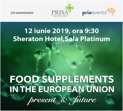 Reglementarea suplimentelor alimentare în UE va fi dezbătută în cadrul conferinței FOOD SUPPLEMENTS IN THE EU, de pe 12 iunie