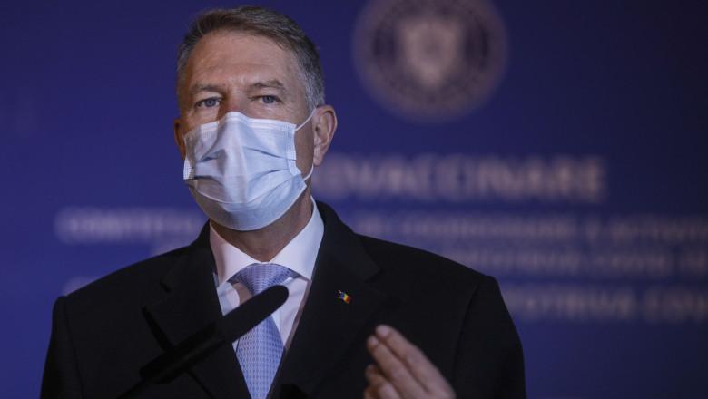 Klaus Iohannis: Sunt necesare eforturi comune pentru a ţine virusul sub control până la atingerea unor niveluri ridicate de acoperire vaccinală
