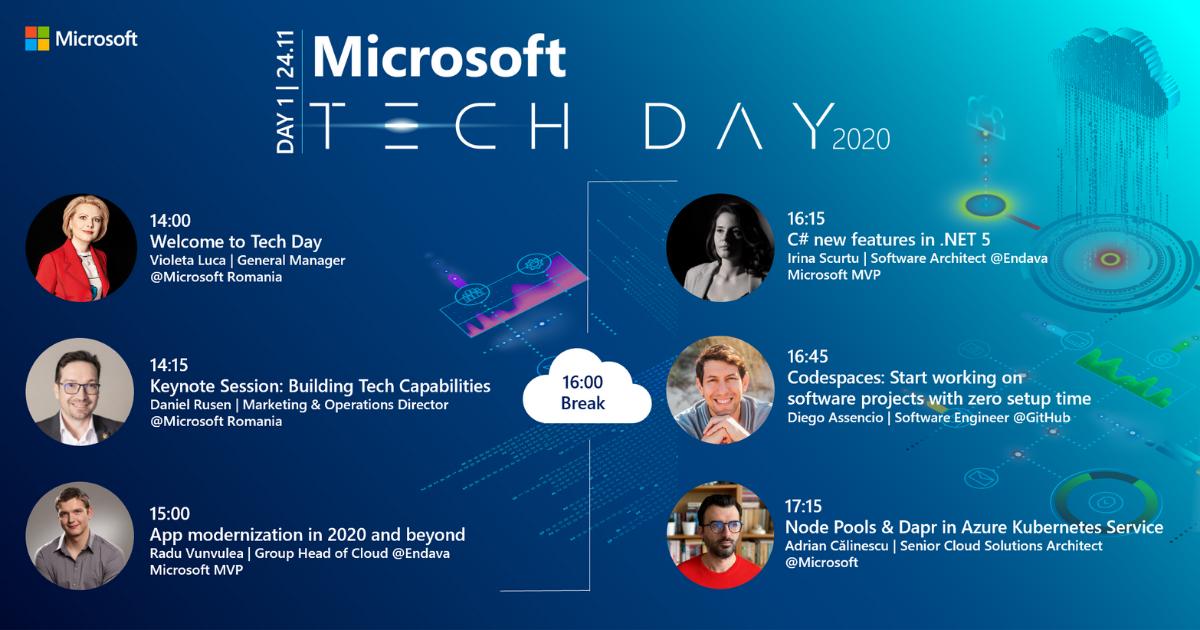 App innovation este tema primei zile a Microsoft Tech Day