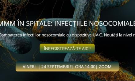 Comunitatea OSC – Spitale Publice dezbate pe 24 septembrie noutățile mondiale în combaterea infecțiilor nosocomiale cu dispozitive UV-C