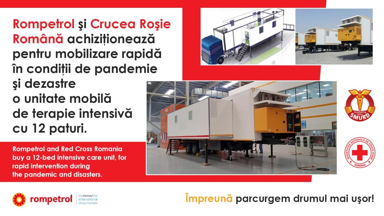 Rompetrol continuă să sprijine lupta împotriva pandemiei, prin Crucea Roșie Română