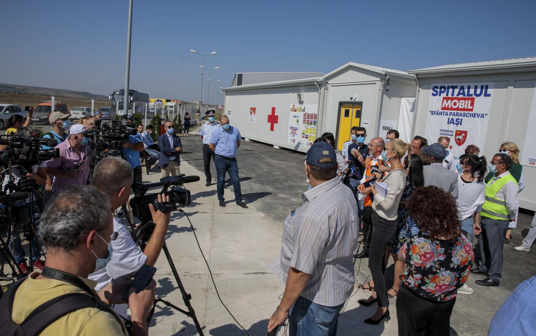 Iaşi: Spitalul mobil de la Leţcani, singurul ROL 3 din ţară, a fost predat Spitalului de Boli Infecţioase