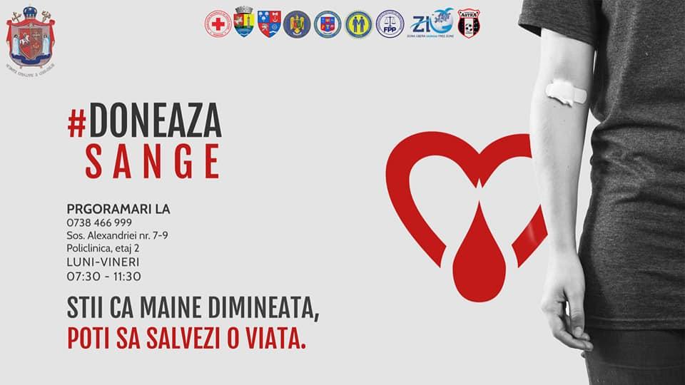 Campanie de donare de sânge lansată de Episcopia Giurgiului