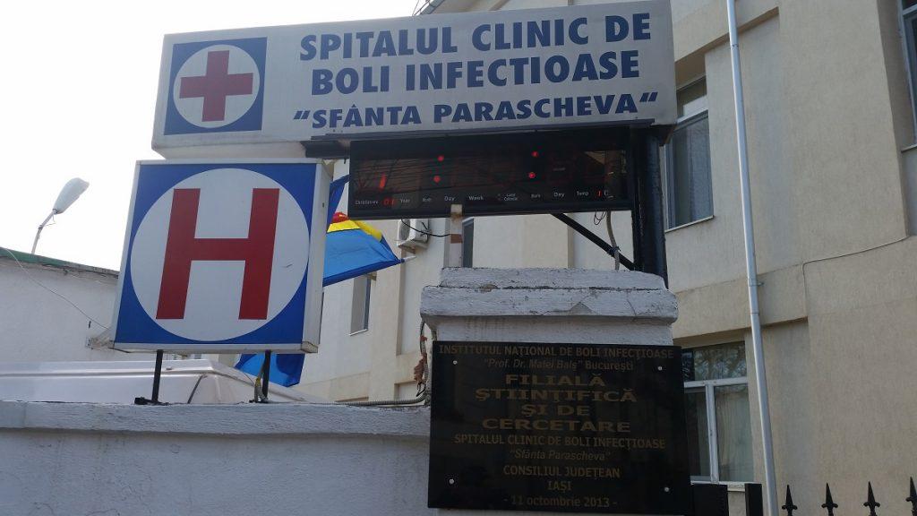 """De miercuri, Spitalul de Boli Infecţioase """"Sfânta Parascheva"""" din Iaşi va îngriji exclusiv pacienţi COVID-19"""