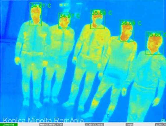 Konica Minolta România a dezvoltat o aplicaţie de analiză termală şi detectare a feţei, în parteneriat cu o companie românească
