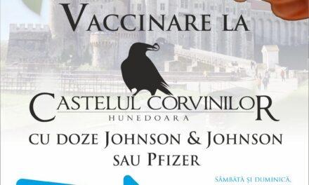Hunedoara: Vaccinare la Castelul Corvinilor, la acest sfârşit de săptămână