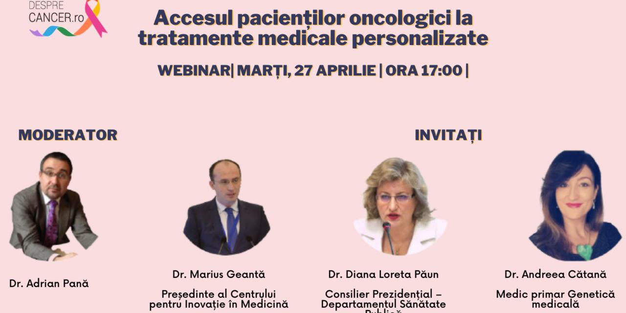 """Comunitate OSC – DespreCancer.ro: Accesul la medicina personalizată și viitorul tratamentului oncologic au fost tema celei de-a doua întâlniri """"Ora pacientului"""""""