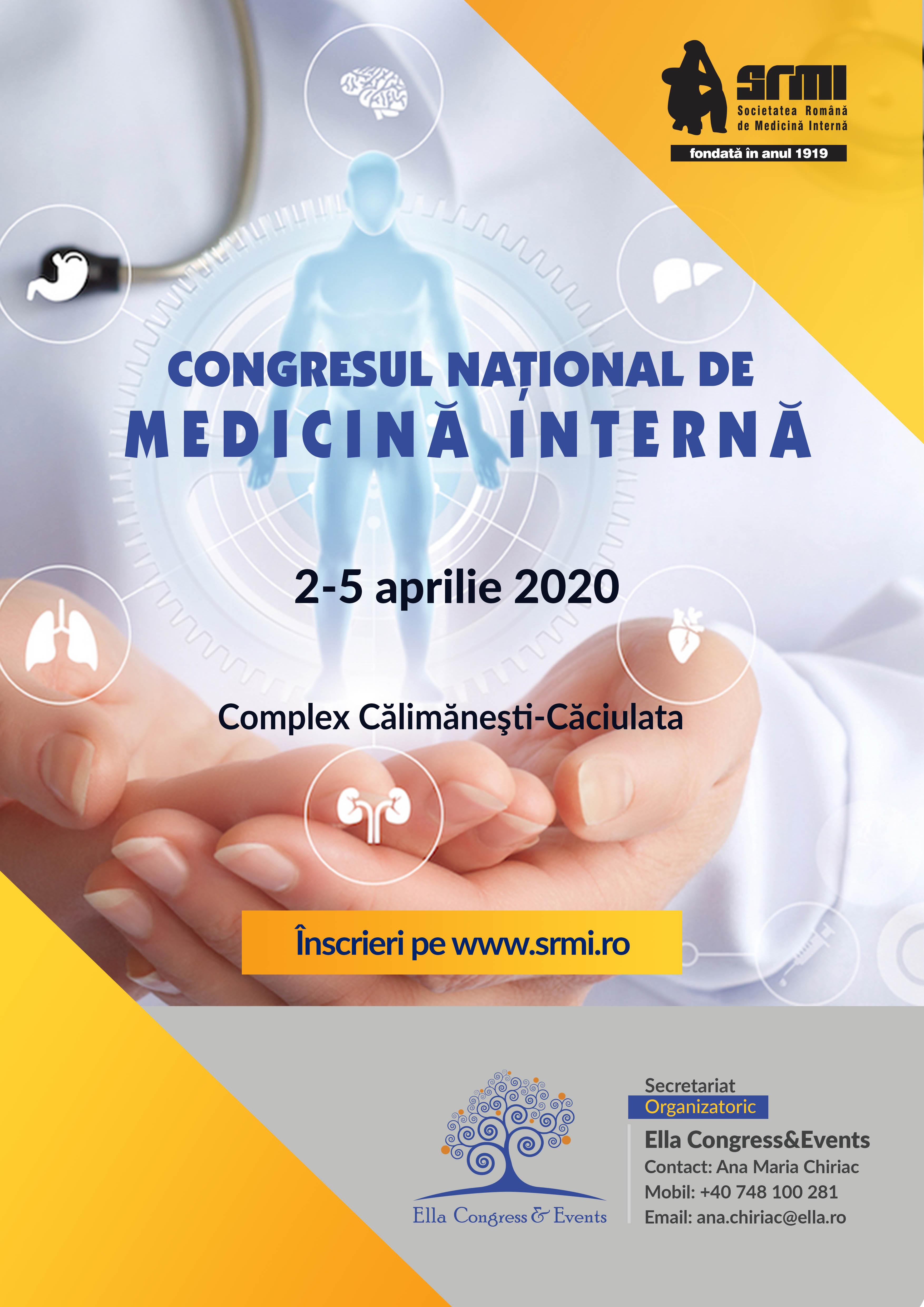 Congresul Naţional de Medicină Internă: 2-5 aprilie 2020, Călimăneşti-Căciulata