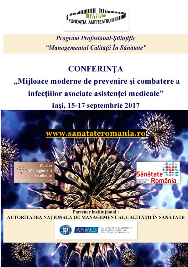 """Conferința """"Mijloace moderne de prevenire şi combatere a infecţiilor asociate asistenţei medicale"""" are loc la Iași, în luna septembrie"""