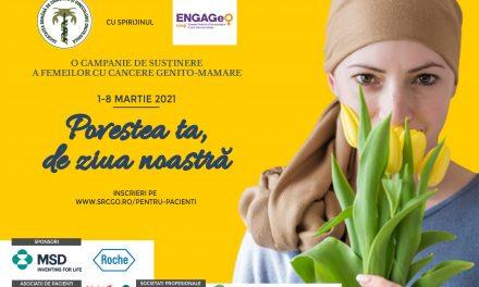 """""""Povestea ta, de ziua noastră"""" – Campanie de susținere a femeilor cu cancere genito-mamare"""