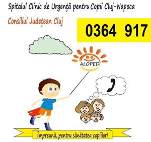 Serviciul gratuit de telemedicină ALOPEDI 0364-917, din ce în ce mai apelat de părinți