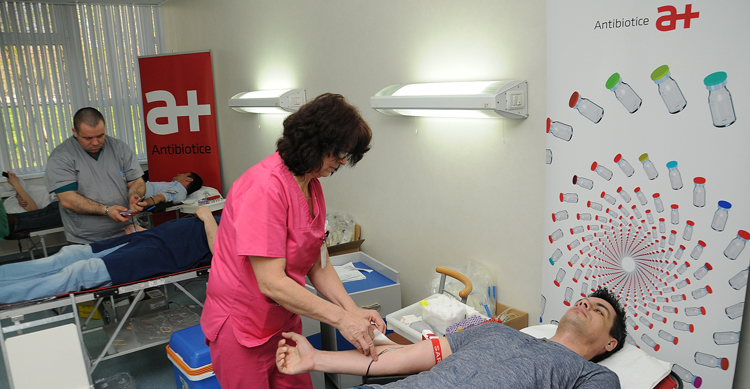 De Ziua Mondială a Sănătății, angajații Antibiotice au donat sânge