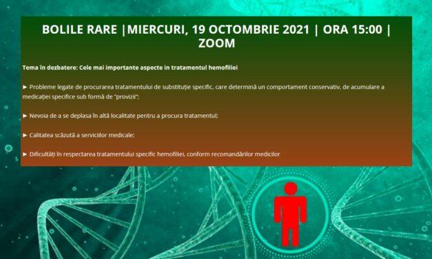A șaptea întâlnire din acesta an a Comunității OSC – Bolile Rare va dezbate pe 19 octombrie cele mai importante aspecte în tratamentul hemofiliei