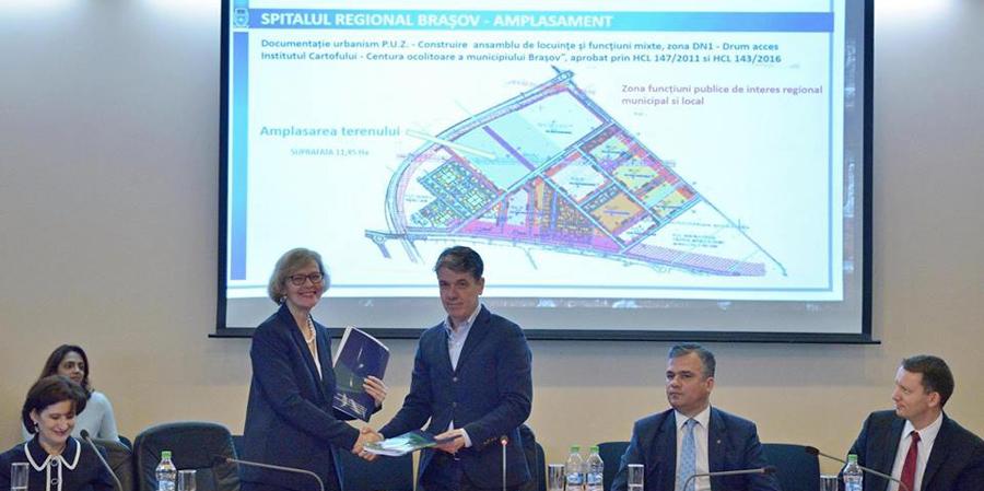 A fost semnat acordul de asistenţă cu BERD în vederea construirii Spitalului Regional Braşov