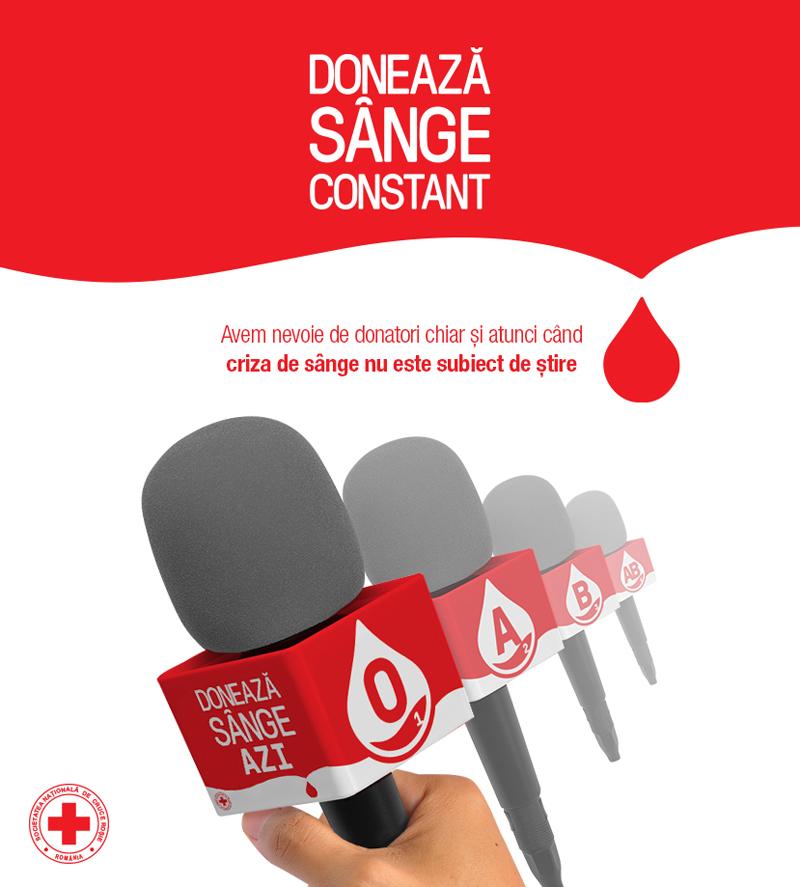 Microfoanele jurnaliştilor devin voce pentru nevoia de sânge în România