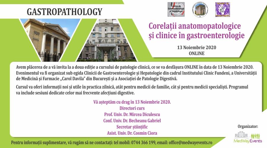 """A doua ediție a cursului de patologie clinică """"Corelații anatomopatologice și clinice în gastroenterologie"""""""