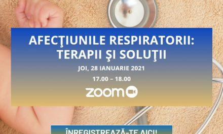"""Pe 28 ianuarie are loc Dezbaterea Video în Pediatrie cu tema """"Afecțiunile respiratorii – terapii și soluții"""""""