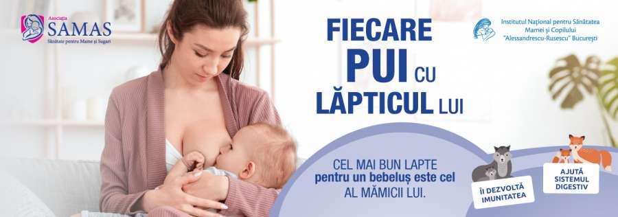 Fiecare pui cu lăpticul lui – o campanie pentru nutriția sănătoasă a bebelușului