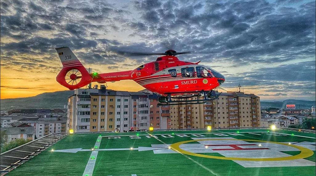 A fost recepționat heliportul de pe platforma Spitalului Judeţean de Urgenţă Bistriţa