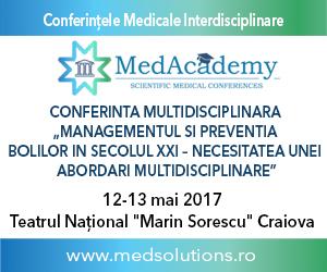 Conferința Națională Multidisciplinară MedAcademy ajunge la Craiova pe 12 și 13 mai