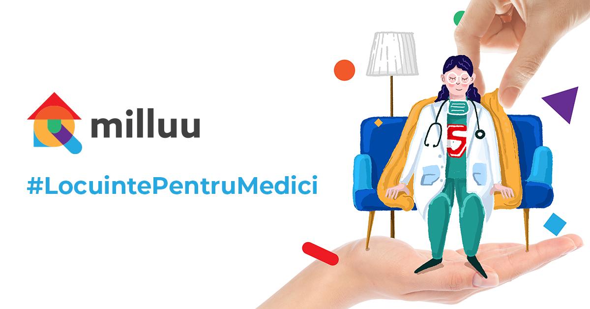 Platforma Milluu extinde inițiativa #LocuințePentruMedici și la Iași