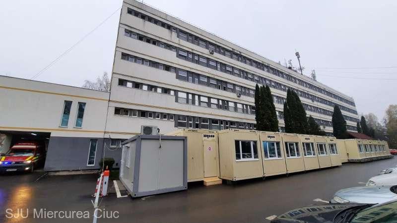 Spital modular pentru pacienţi suspecţi de COVID-19, inaugurat în curtea SJU Miercurea Ciuc