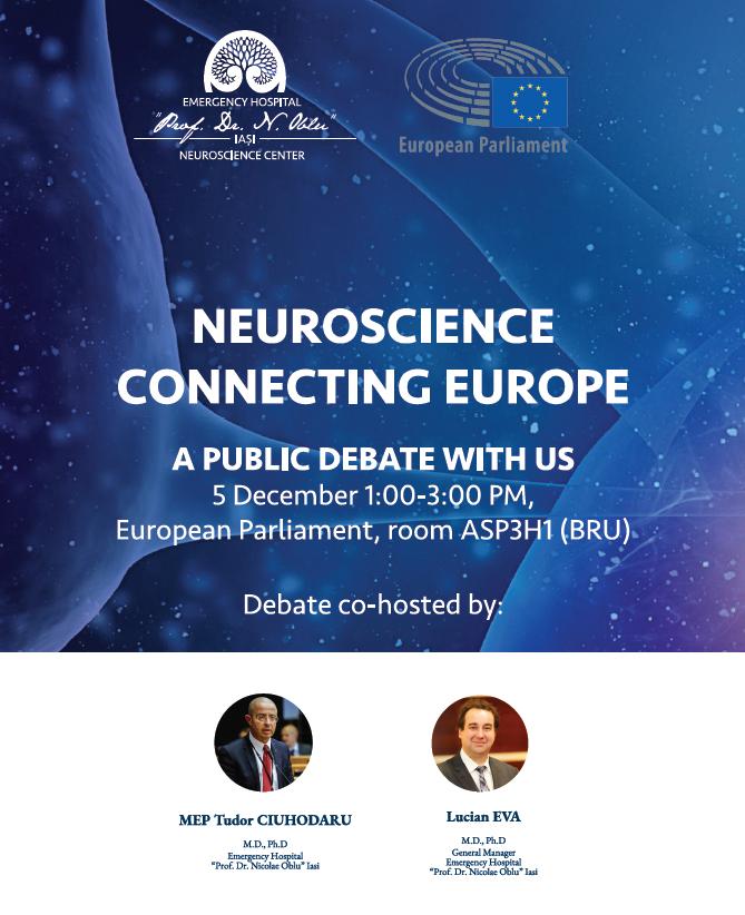 """Centrul de Neuroştiinţe şi Spitalul """"Prof. Dr. Nicolae Oblu"""" din Iaşi au fost prezentate în Parlamentul European"""