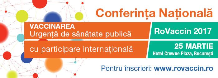 Au început înscrierile la Conferința Națională RoVaccin 2017, cu participare internațională