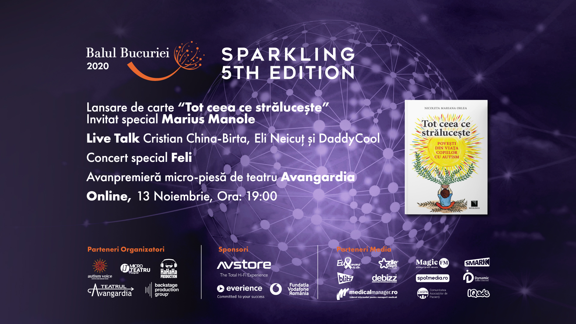 Vineri, 13 noiembrie: Balul Bucuriei Sparkling 5th Edition