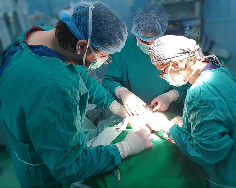 Ablaţie radicală de tumoră gigantă cervico-parotidiană, realizată de o echipă multidisciplinară de la Spitalul Universitar Bucureşti