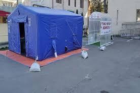 Trei tuneluri pentru dezinfecţie, instalate la Spitalul Judeţean de Urgenţă Slatina