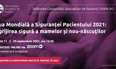 """Comunitatea CASPA.ro se întâlnește pe 29 septembrie pentru a vorbi despre """"Îngrijirea sigură a mamelor și nou-născuților"""""""