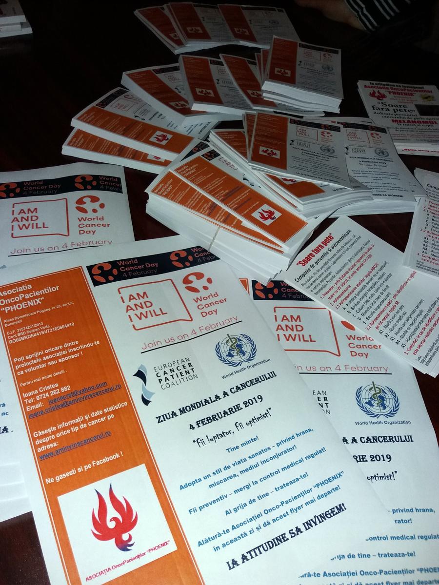 Asociatia Oncopacientilor PHOENIX a marcat pe 4 februarie Ziua Mondiala a Cancerului